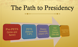 Pre-PETS is the beginning of the training journey for incoming Rotary Club Presidents