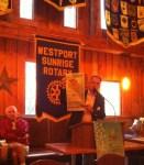 President Steve Violette showing the recent press
