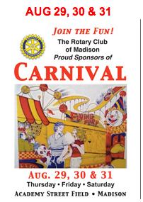 Bring your family out!!! Visit http://www.MadisonCTRotary.org/Carnival.cfm for more info