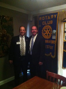 Assistant Governor Robert Friend and President Jerry Tilton