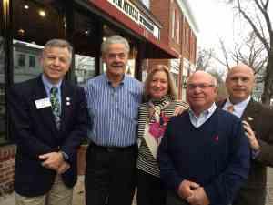 AG Larry Gardner, Ron and Carol Giustino, President John Metzger and Rick Bassett