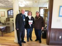 Rev. Owen Sanderson, Lynda Hammond &  Wendy Kirby