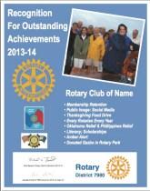Sample Club Achievment Recognition
