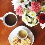 Chicken & Heart Waffle Sliders