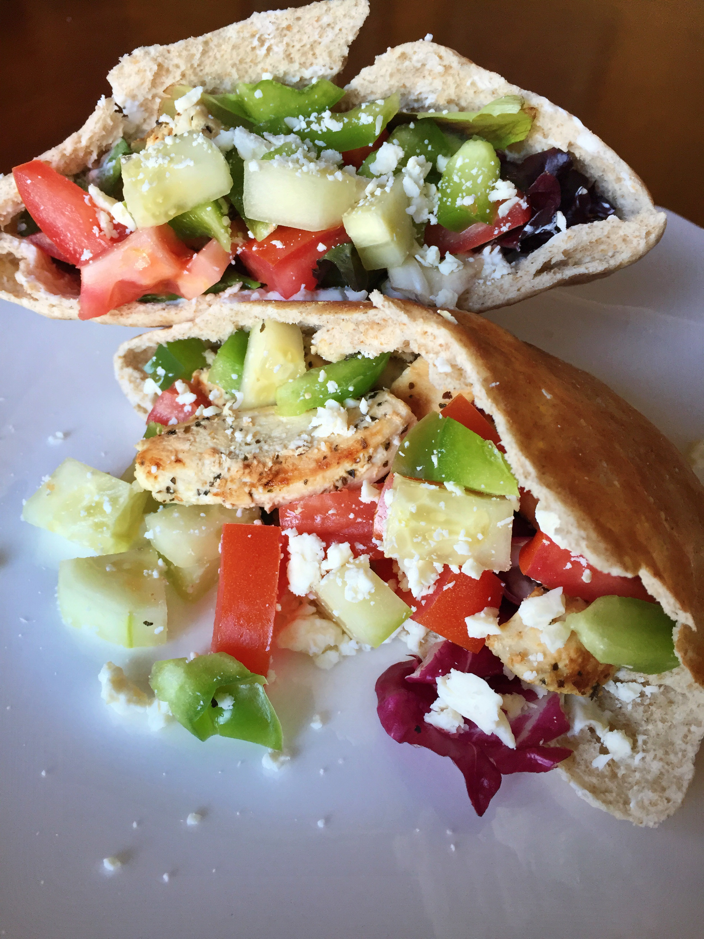 Greek Chicken Pita with Homemade Tzatziki