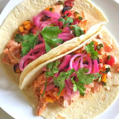 Chili Lime Marinated Salmon Tacos