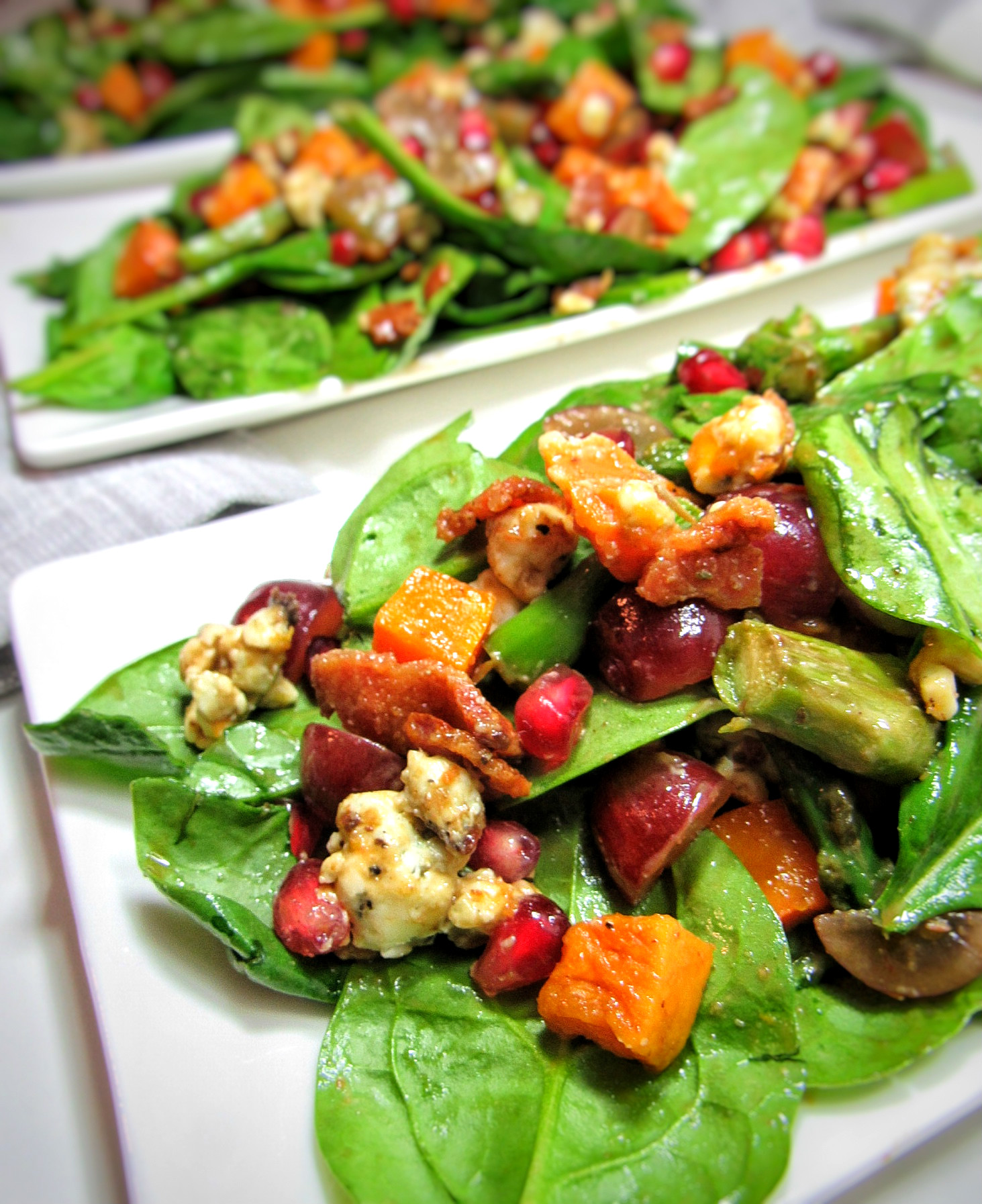 Thanksgiving Dinner Salad With Butternut Squash