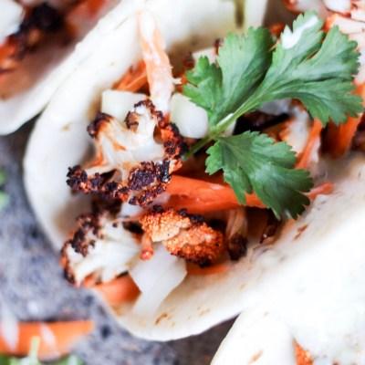 Buffalo Roasted Cauliflower Tacos