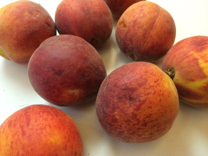 The first gorgeous peaches of the season.