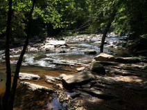Further downstream, Sope Creek.