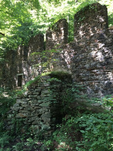 Old paper mill ruins.