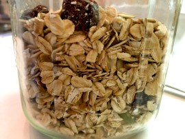 Mighty muesli in its jar...