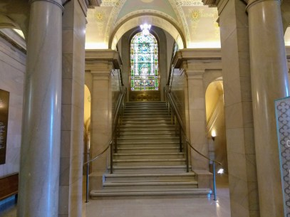 The inside of the St. Louis Public Library. How fancy!