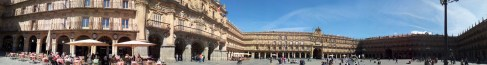 panoramic image of la Plaza Mayor, Salamnca, Spain