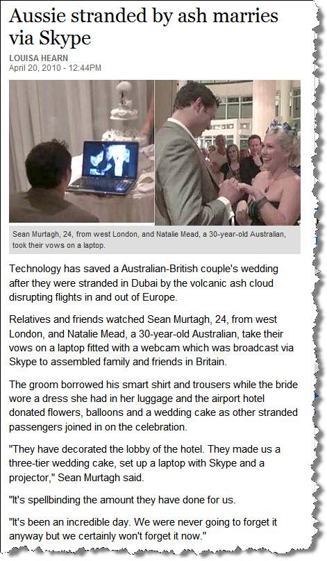 Ash wedding