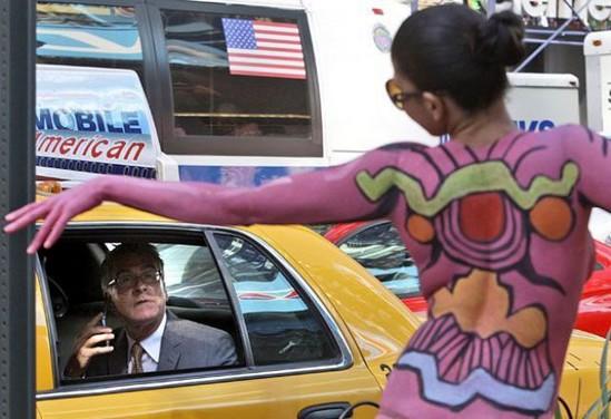 Taxi rider surprise