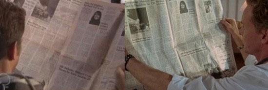 Newspaper prop