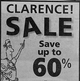 Clarence sale