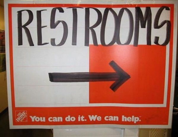 Restrooms home depot