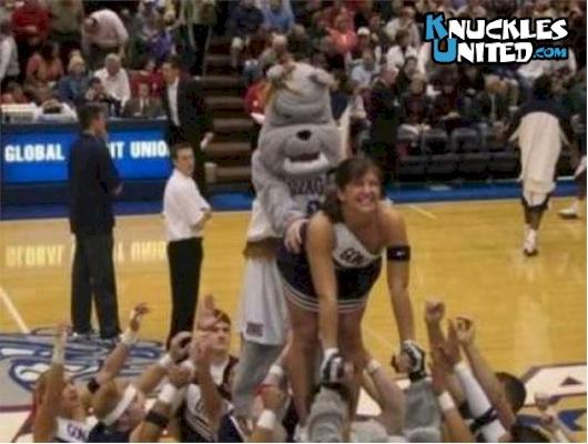 Mascot-cheerleader
