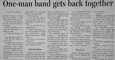 One man band reunites