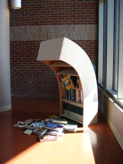 Sad bookcase