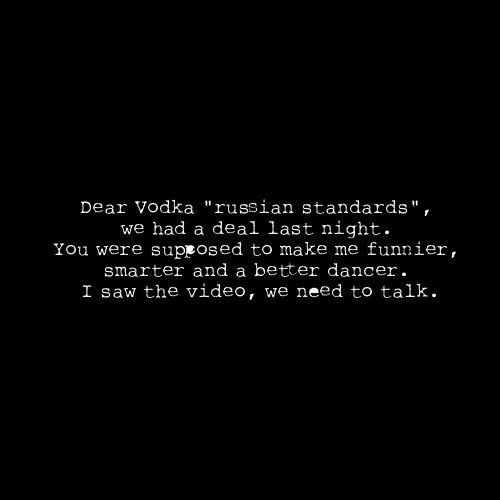 Dear vodka