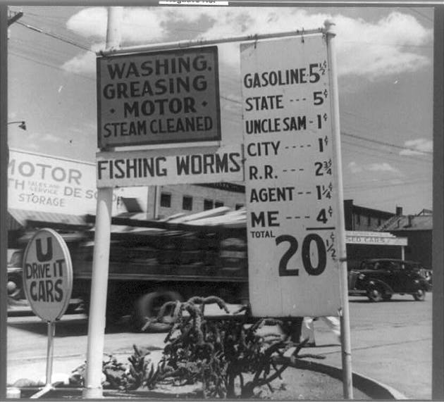 Gas prices in 1955