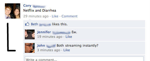 Netflix and diarrhea