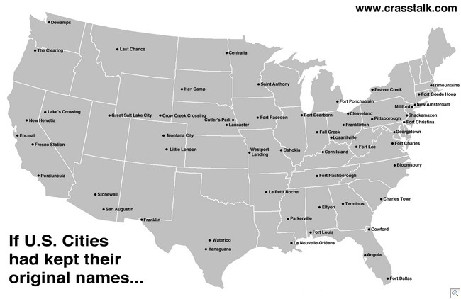 If US cities kept names