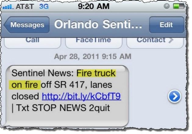 Firetruck on fire