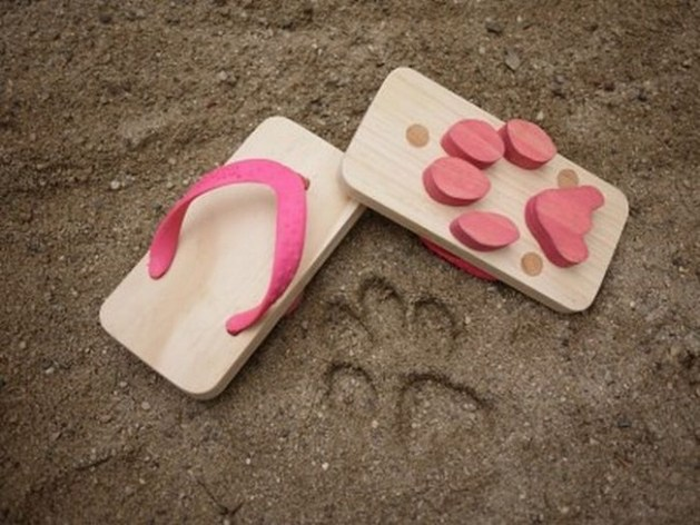 Leaving dog footprints everywhere