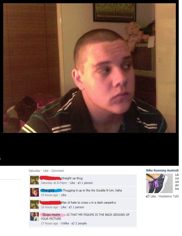 Gangsta on facebook