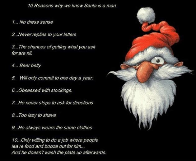 Santa is a man