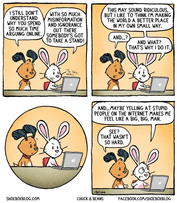 Arguing online