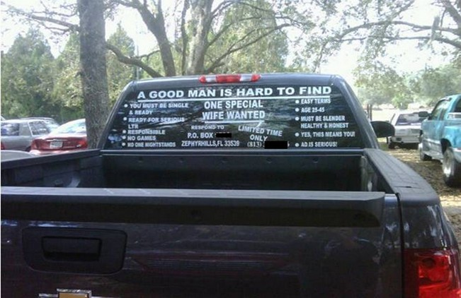 Truck personal ad
