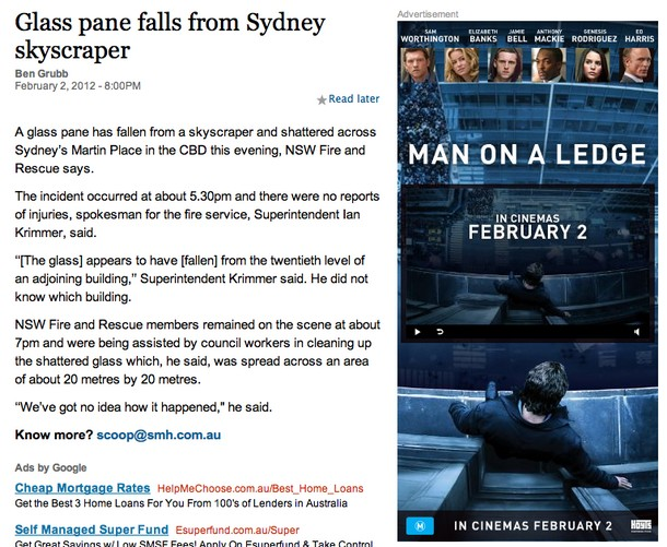 Funny ad placement