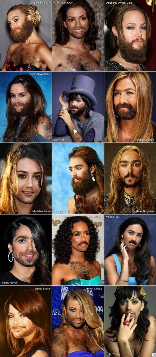 Famous hairy women