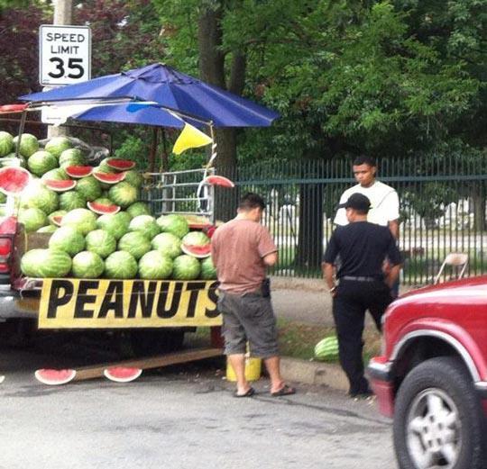 Big green peanuts