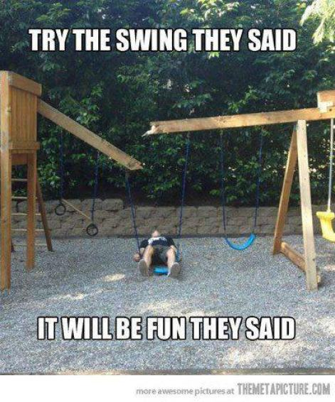 Try the swing