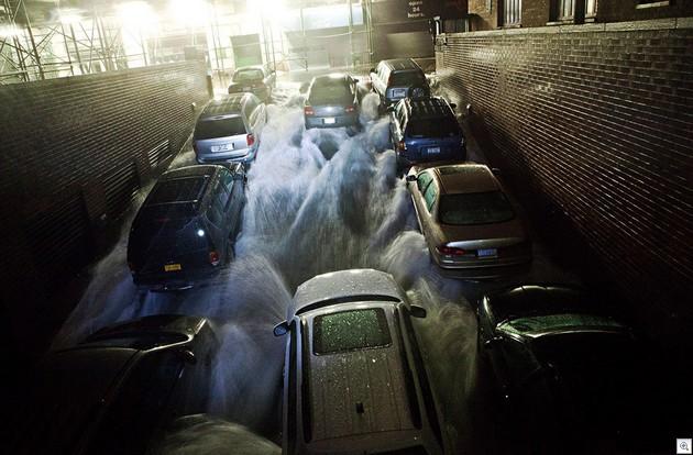 Cars engulfed