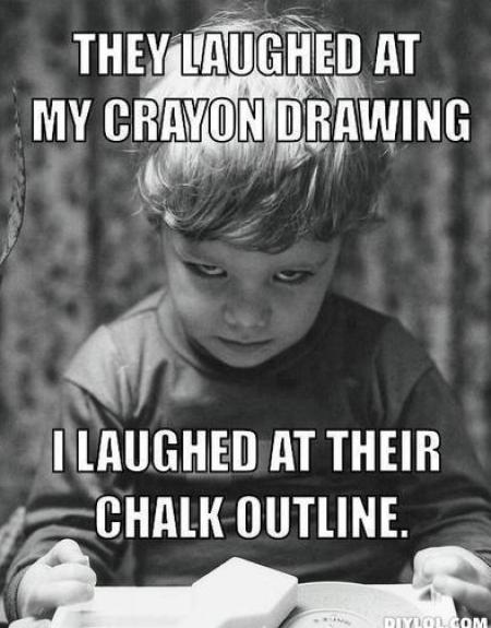 They laughed at my drawing