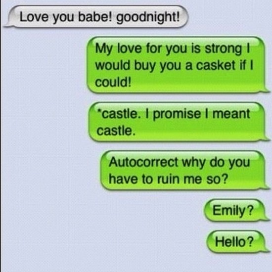 Castle autocorrect