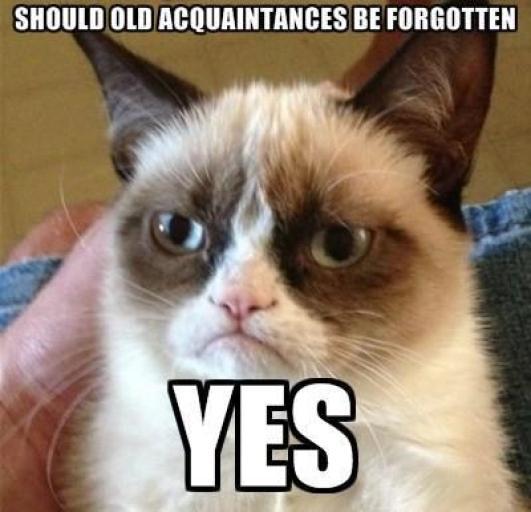 Should old aquaintances be forgotten