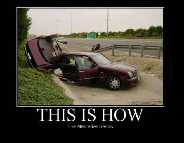 Mercedes bends