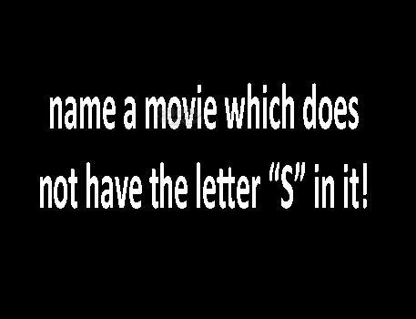 Movie with no S