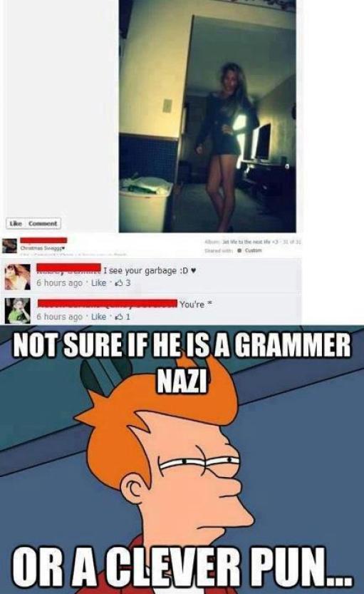 Grammas nazi or clever pun