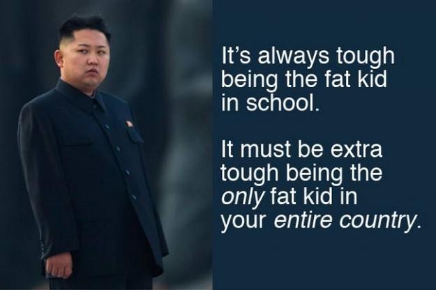 Tough being kim jong un