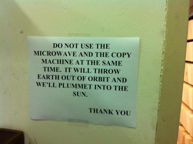 Microwave notice