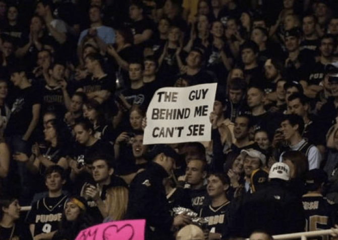 The guy behind me